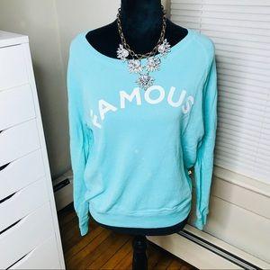 🐬SALE 5 for $25 • Seafoam 'Famous' Sweatshirt